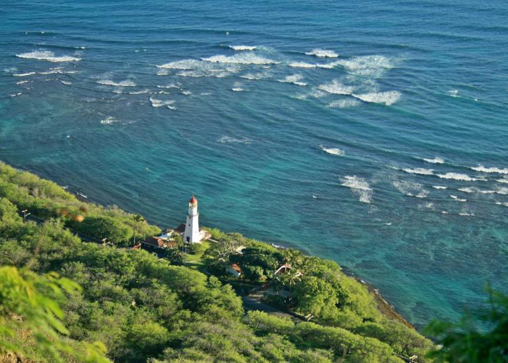 Diamond Head Road from above