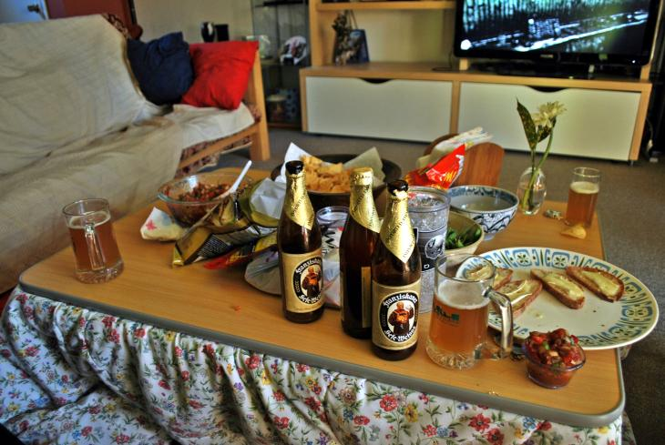 German Beer, French Cheese, Mexican Salsa and American Football