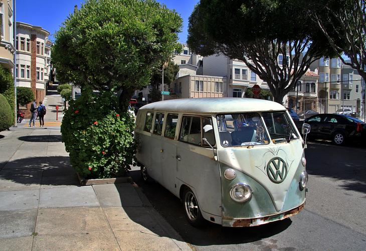 VW Bus in San Francisco