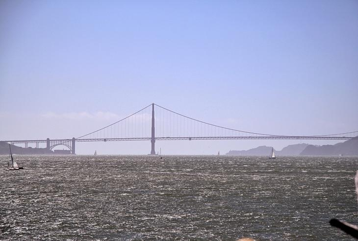 The Golden Gate Bridge as seen from the ferry / Die Golden Gate Bridge von der Fähre aus