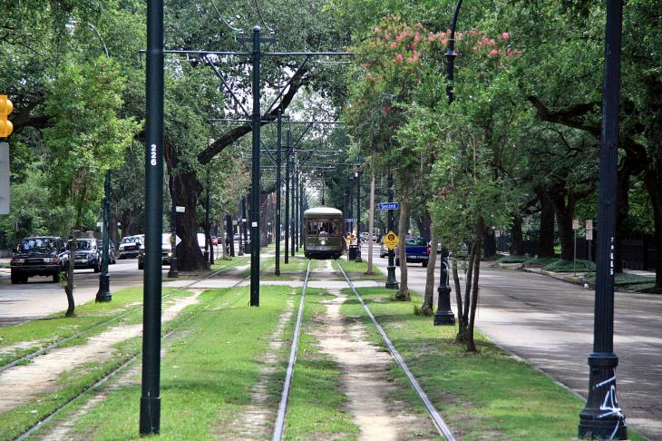 The street car in New Orleans / Die Straßenbahn in New Orleans