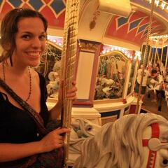 Robyn on the Prince Charming Regal Carrousel, Fantasyland