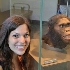 Two primates at the National Museum of Natural History