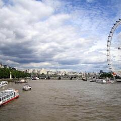 London Eye and Thames River, London