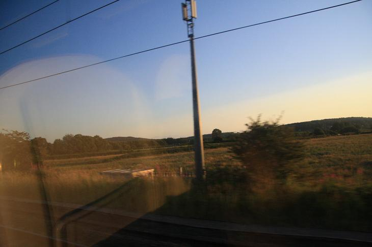 On the train through England