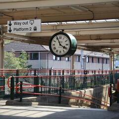The famous clock in Carnforth