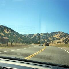 On the way to Lake Berryessa