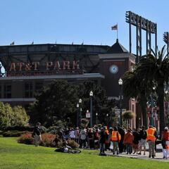 Giants Fans at AT&T Park