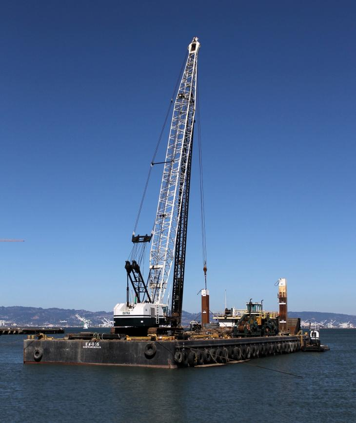 Floating Crane near Bay Bridge