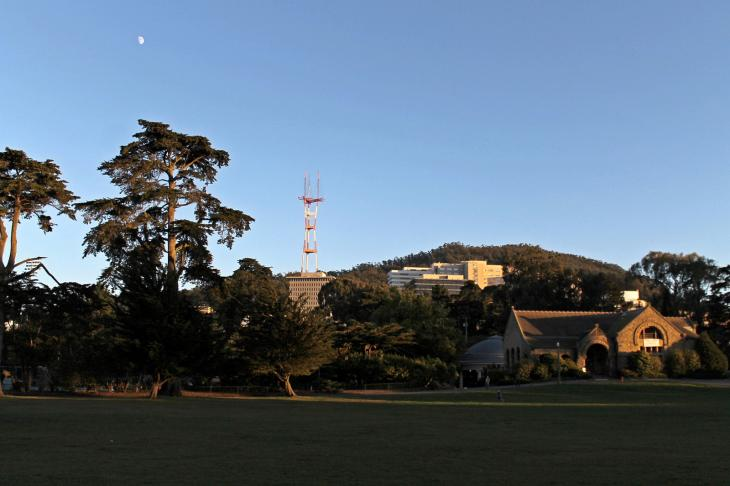 Sutro Tower as seen from the Golden Gate Park