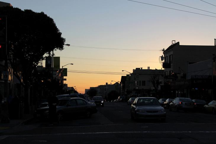 Sunset at Irving St