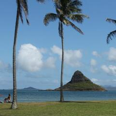 Mokoli'i as seen from the Kualoa Regional Park