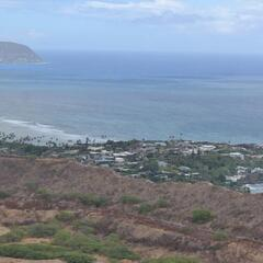 View from the top of the Diamond Head