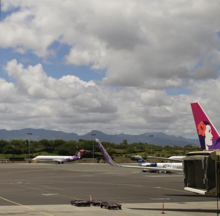 Departure from Honolulu