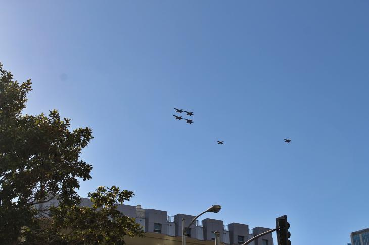 Blue Angels over San Francisco during the Fleet Week