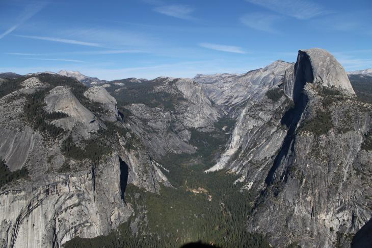 View from Glacier Point (Half Dome on the right)