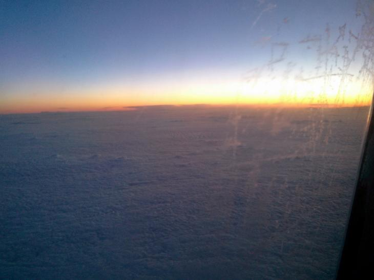 Sunrise above the Atlantic Ocean