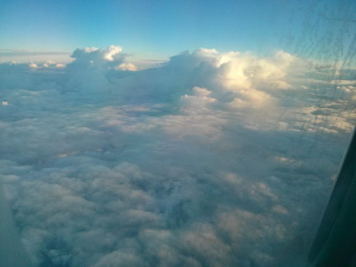 Clouds above the Atlantic Ocean