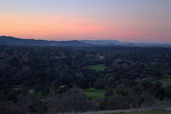 Sunset in Palo Alto