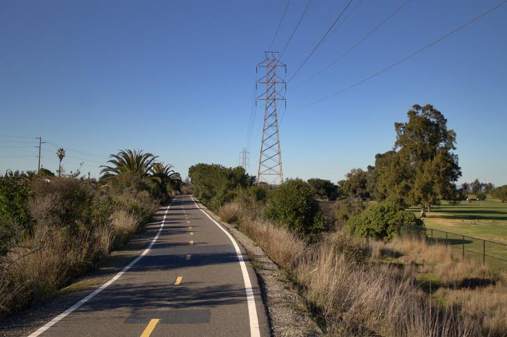 Bike path near San Francisquito Creek