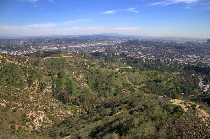 Griffith Park (seen from Mount Hollywood)