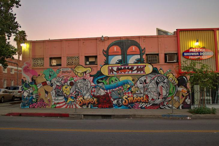 Graffiti near Hollywood Boulevard