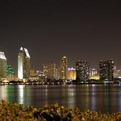 San Diego Skyline at night (as seen from Coronado)