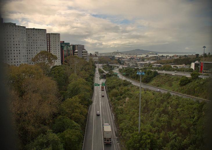 Auckland Motorway as seen from Grafton Bridge