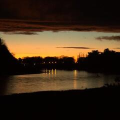 Manawatu River at night