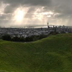 Crater with Auckland in the background