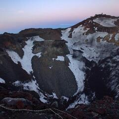 Crater at the summit