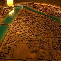 Model of Hiroshima in 1945