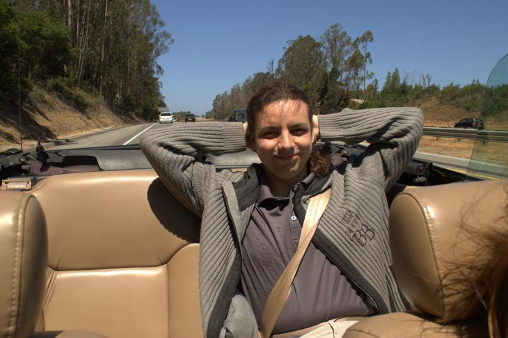 Cabrillo Highway (Highway 1) in a convertible