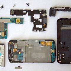 Taking the whole phone apart. Most components are completely fine.