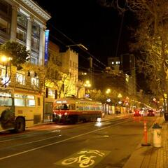 Market Street at night