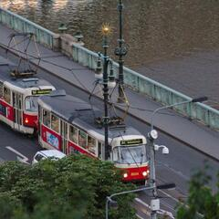 Street Car on Svatopluk Čech Bridge