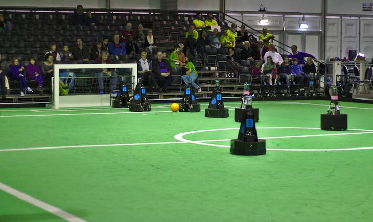 Robot Soccer Game at RoboCup