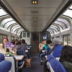 Coast Starlight Train, Panorama Car