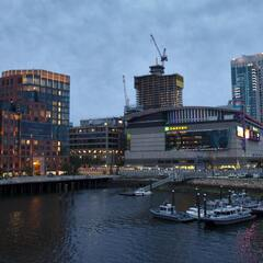 TD Garden at night