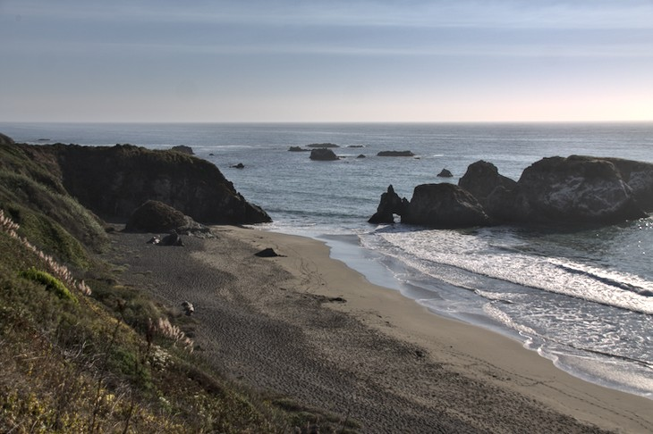 Beach near Westport, north of Fort Bragg