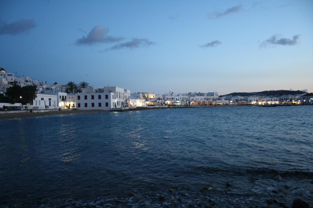Mykonos at night, Greece