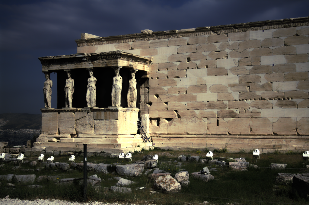 Erechtheum on the Acropolis of Athens, Greece (HDR)