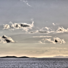 Clouds over the sea near Syros, Greece (HDR)