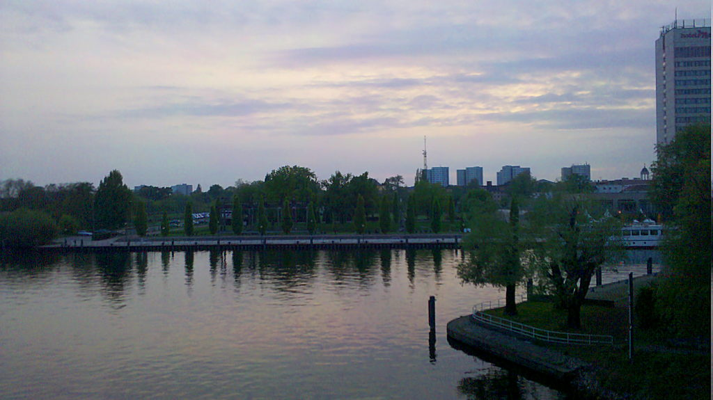Havel river and Mercure Hotel