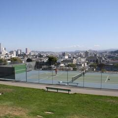 Tennis Court on top of Alta Plaza