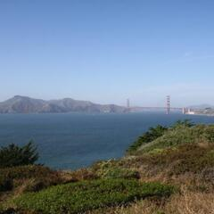 View at Golden Gate Bridge from Lincoln Park