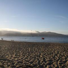 Beach near Crissy Field (Look at Golden Gate Bridge)