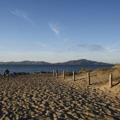 Beach near Crissy Field (Look at San Francisco Bay)