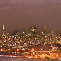 San Francisco at night (HDR)