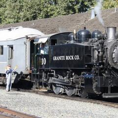 Steamer near California State Railroad Museum